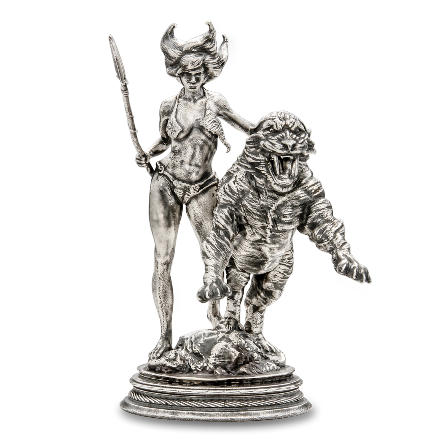 6 oz Silver Antique Statue - Frank Frazetta (The Huntress)